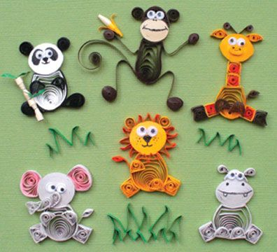 Quilling zoo animals