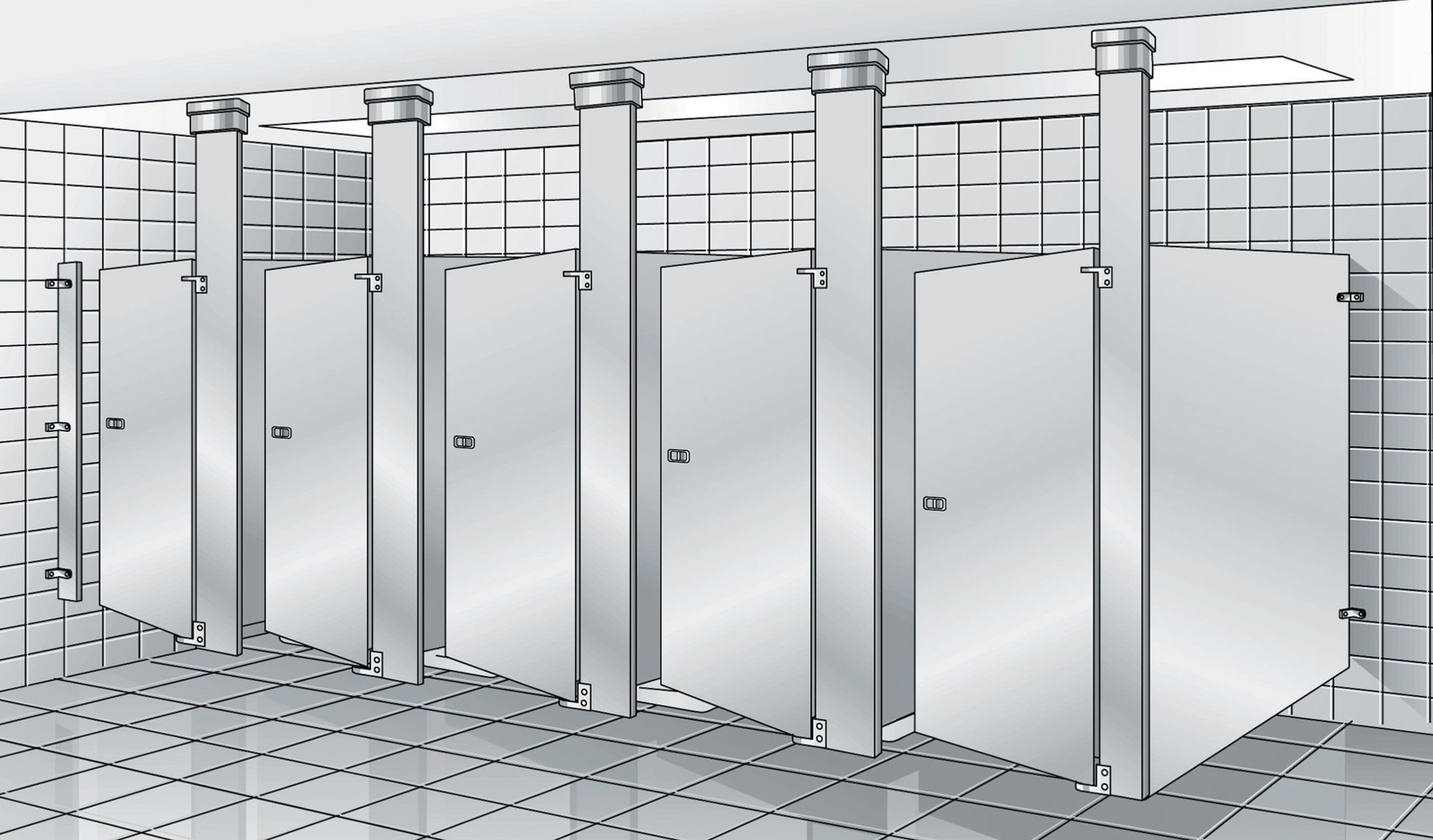 Bradley Revit Toilet Partition Family | Instruction Sheet Revit Material  Catalog Bonus