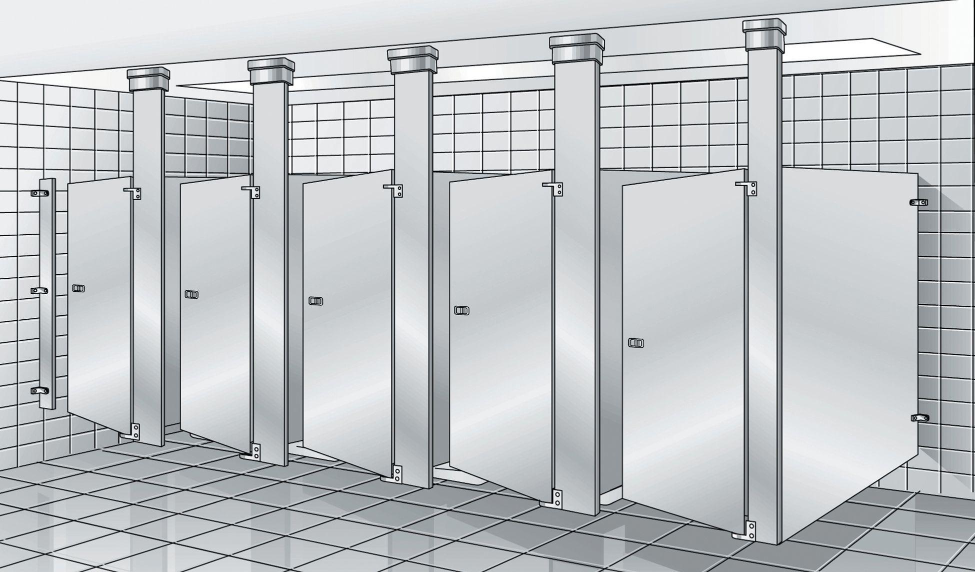 Bathroom Stalls Revit bradley revit toilet partition family | instruction sheet-revit