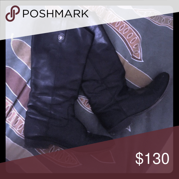 Frye Boots Style: Melissa Button.                                          Color: Black                                     Condition:Good Frye Shoes Winter & Rain Boots