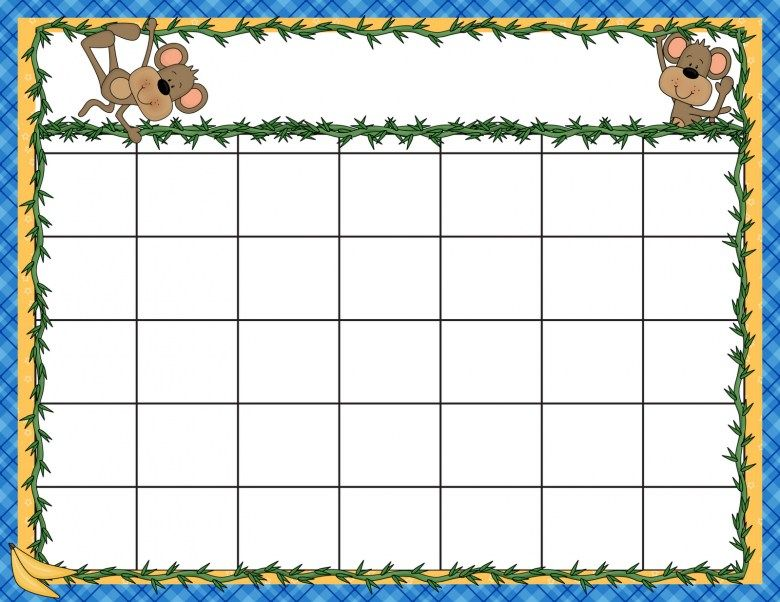 Kids Calendar Templates 2017 Free Monthly Calendar Circle - preschool calendar template