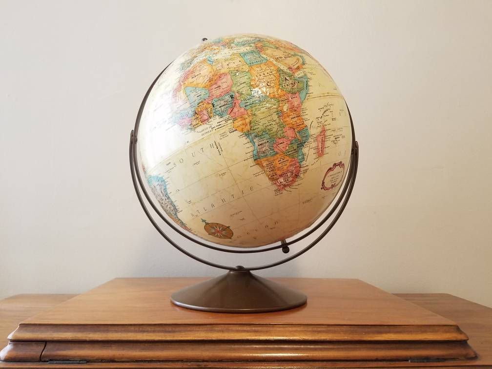 Vintage Replogle World Classic Series Globe 12inch Diameter Globe World  Globe Map Vintage Globe Home Decor