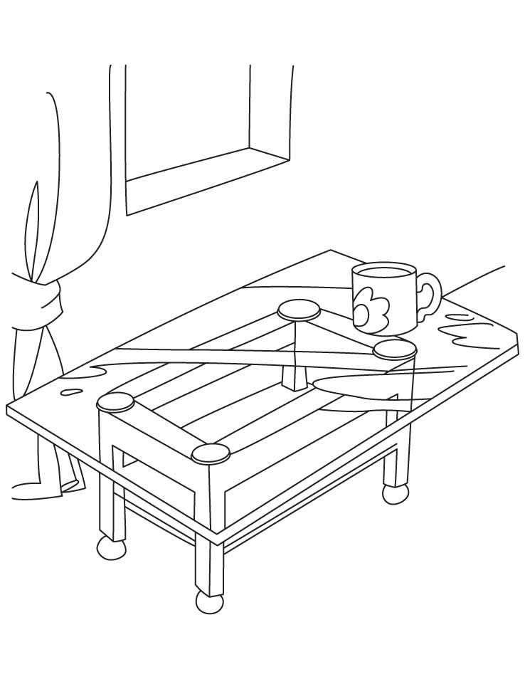 Coffee table coloring pages | Download Free Coffee table coloring ...