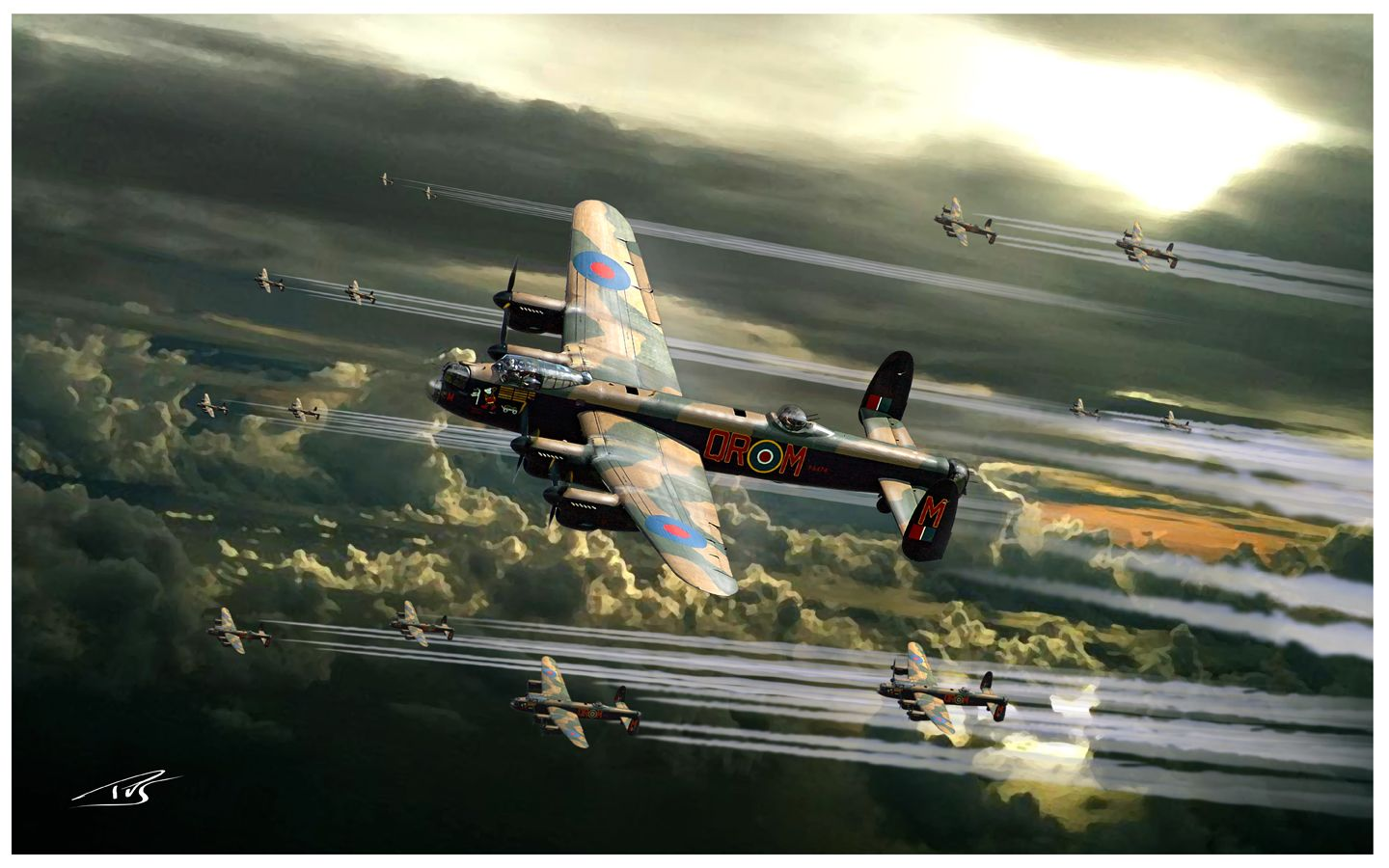 Thousand Bomber Raid by PetervanStigt.deviantart.com on @deviantART