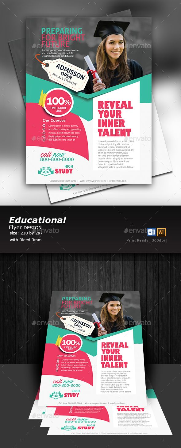 education flyer design template brochures and flyer template