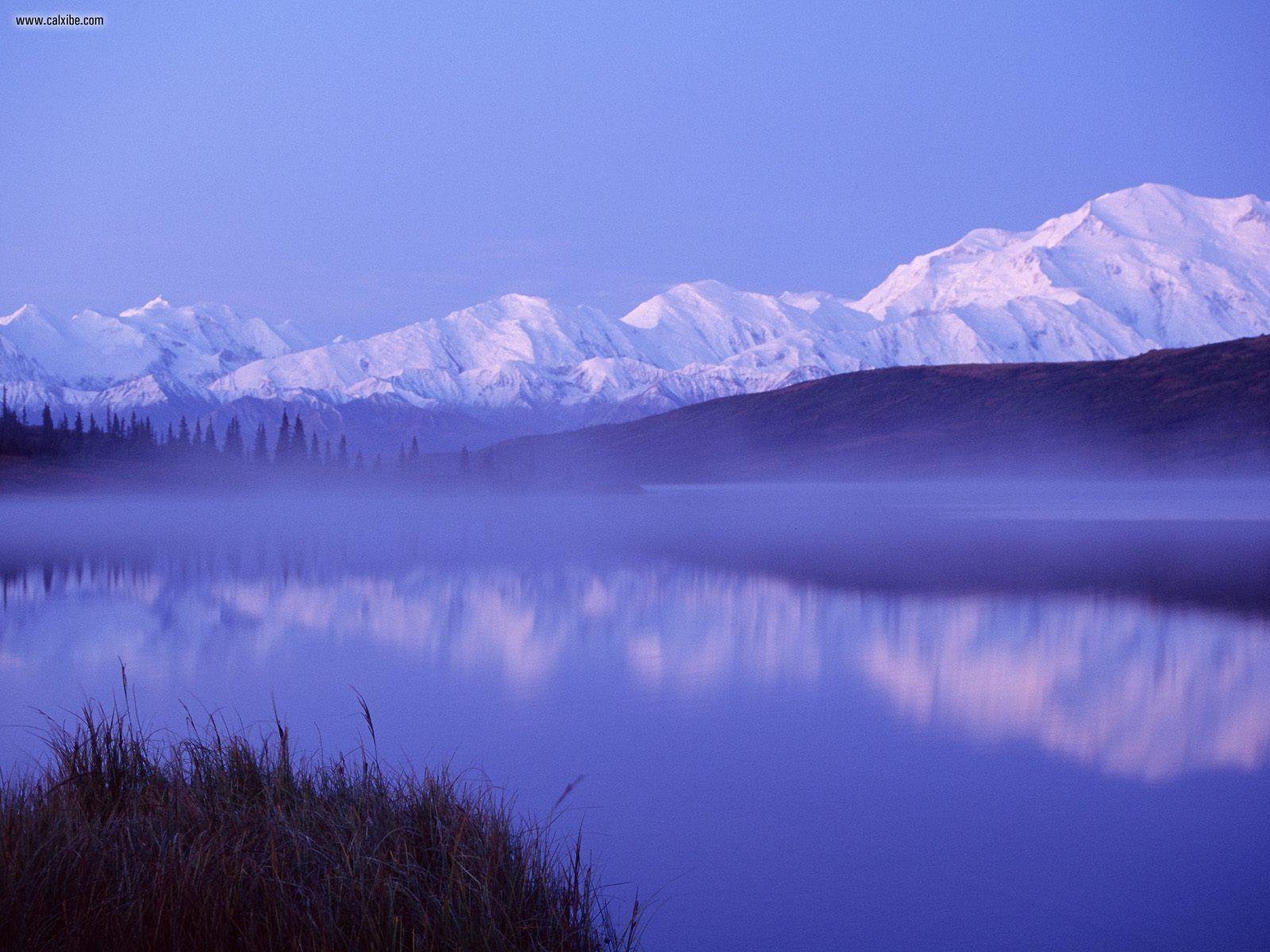 Download X Mountains Snow Lake Denali National Park