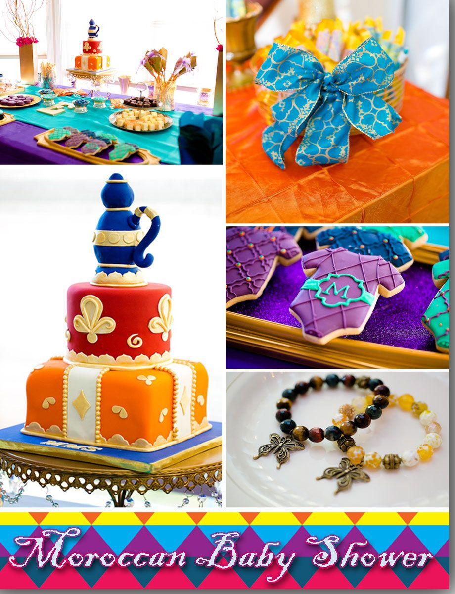 Moroccan Themed Baby Shower: Ebony Of Sparkling Events