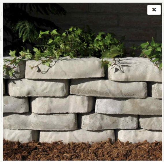 Concrete Molds Forms 2 Natural Retaining Wall Blocks Concrete Retaining Walls Retaining Wall Blocks Garden Wall Block