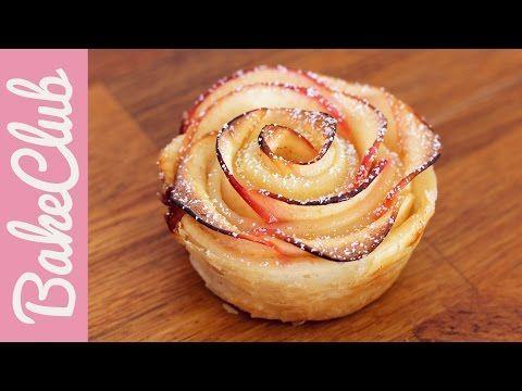 Apfel-Blätterteig-Rosen | BakeClub - YouTube #blätterteigrosenmitapfel