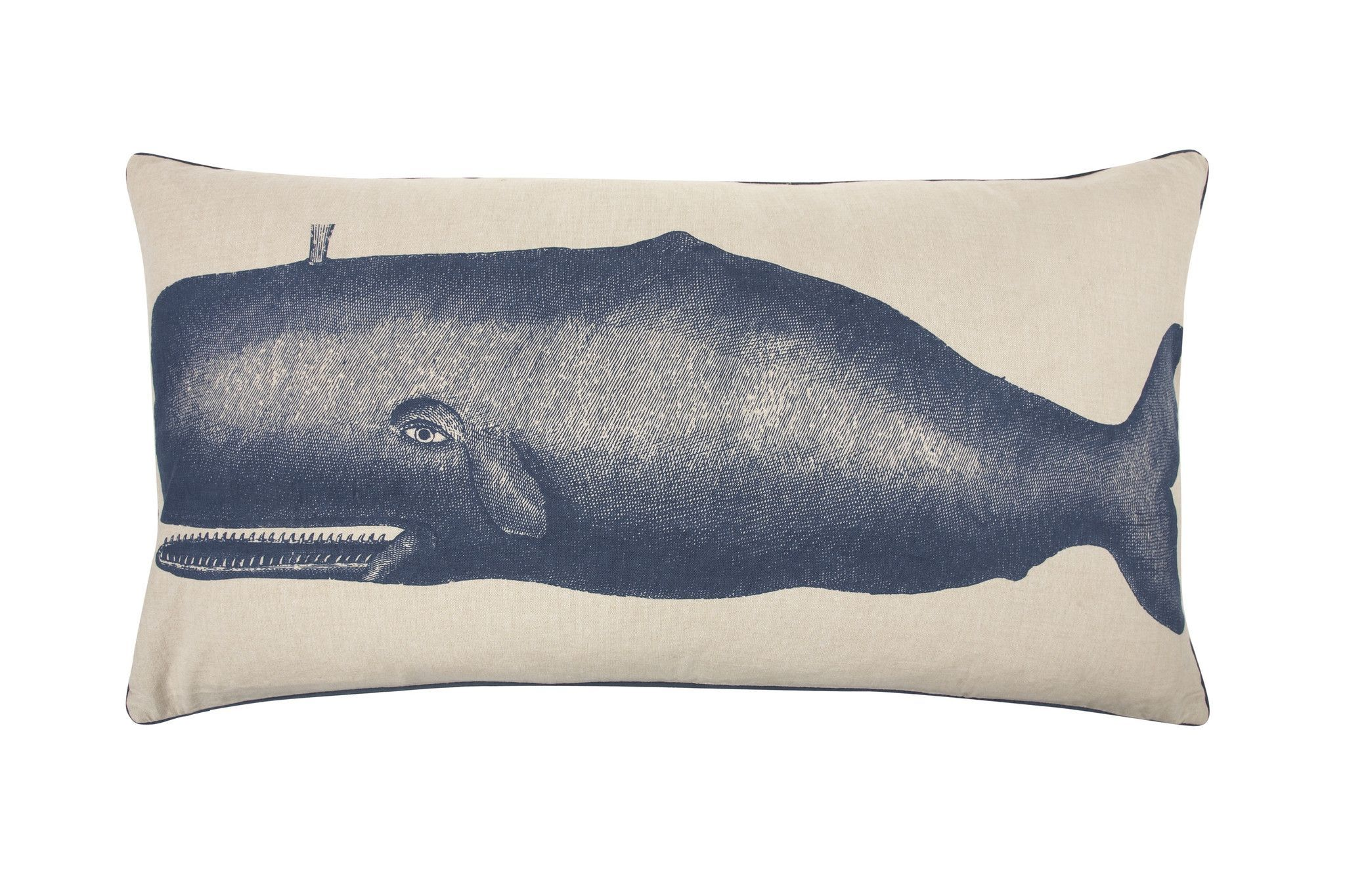 Moby Accent Bed Pillow in Ink design by