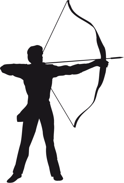 Image result for archery silhouette