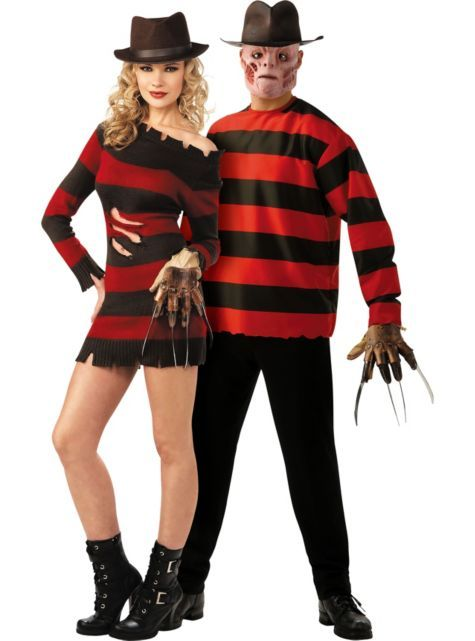 NUOVO Donna Kids Freddie Krueger Nightmare on Elm Street Halloween Fancy Dress