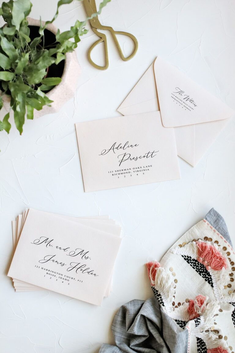 How To Print Envelopes The Easy Way Pipkin Paper Company In Paper Source Templates Pl In 2020 Printed Envelopes Wedding Envelopes Diy Printable Place Cards Templates