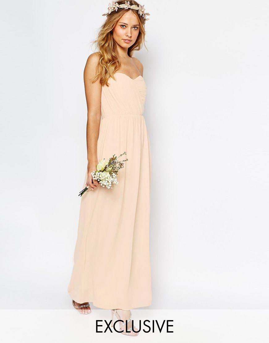 Image of tfnc wedding bandeau chiffon maxi dress lovely lady