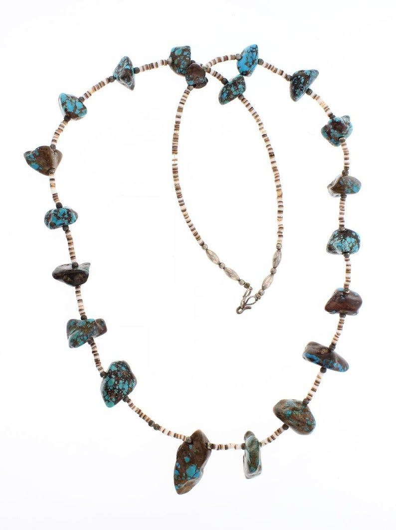 Southwest Statement Jewelry Best Friend Gifts Long Unique Necklace Long White Turquoise Beaded Necklace