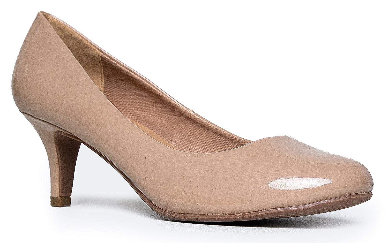 Zooshoo Women S Classic Closed Toe Kitten Heel Pump 7c Dress Work Party Mid Heeled Pumps 7c High Casual Comfortab Heels Kitten Heel Pumps Kitten Heel Shoes