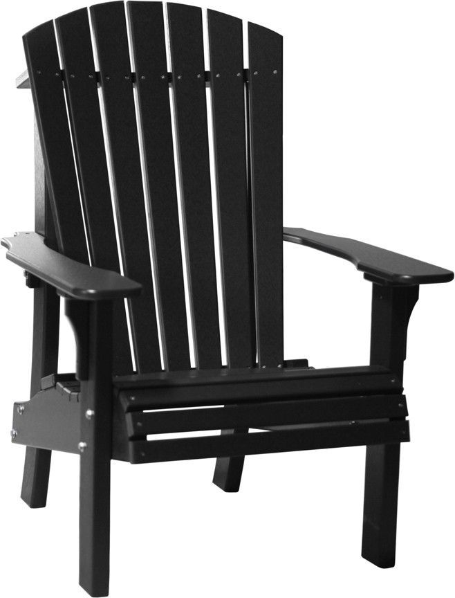 LuxCraft Recycled Plastic Senior Height Royal Adirondack Chair