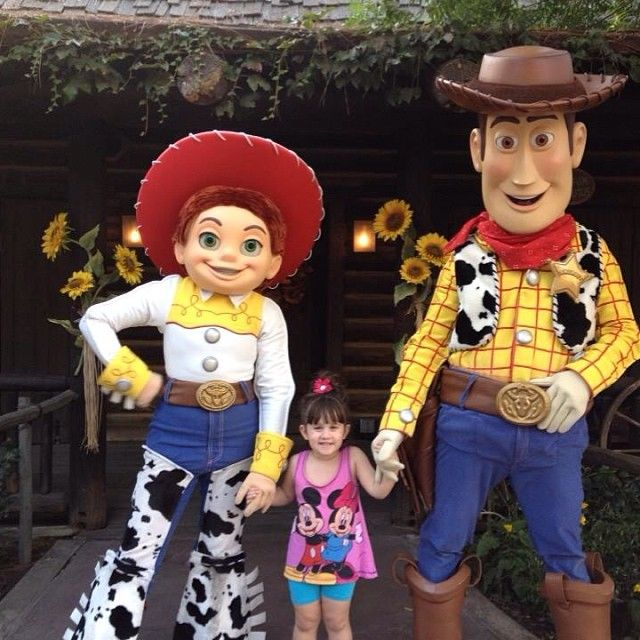 Jesse And Woody Near Big Thunder Ranch At #Disneyland
