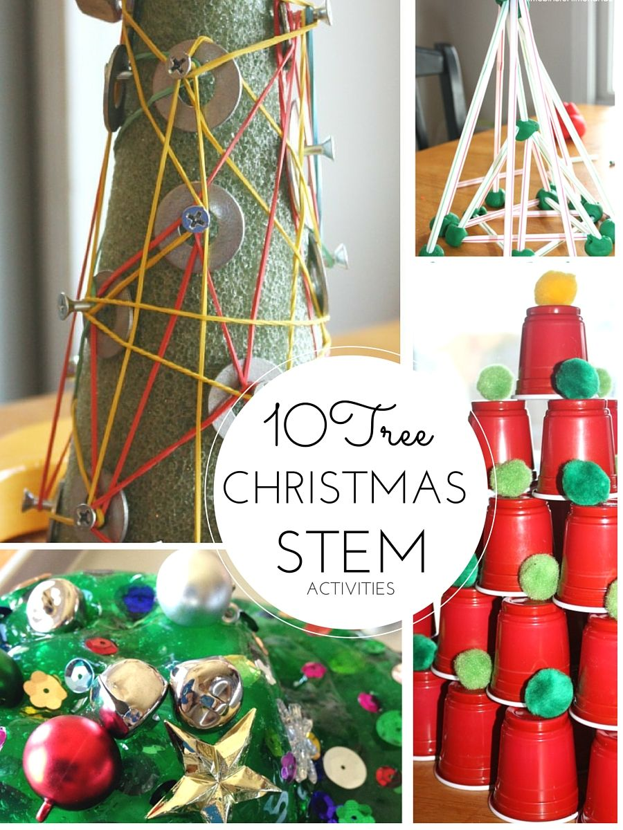 Christmas STEM Ideas Engineering Christmas Trees | Little Bins ...