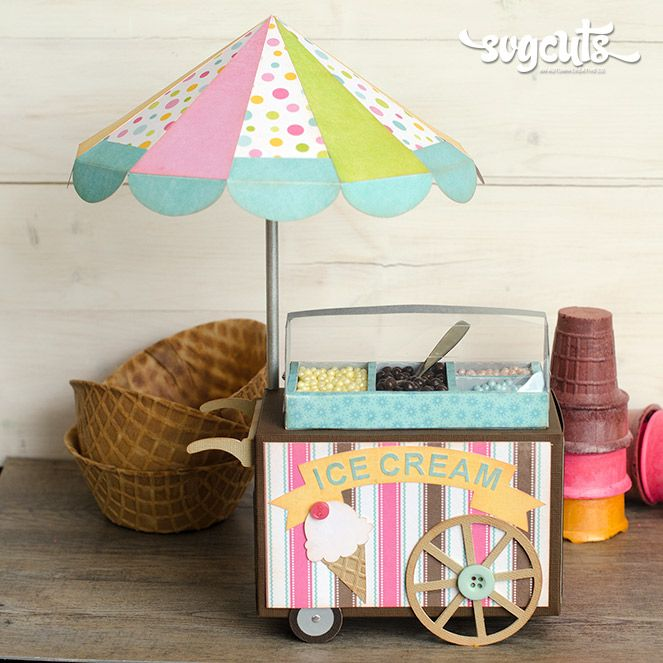 Old Fashioned Ice Cream Cart By Thienly Azim Svgcuts Com
