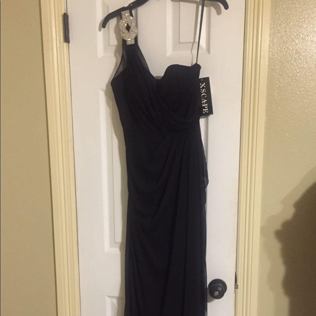 Beautiful brand new chiffon black long dress products