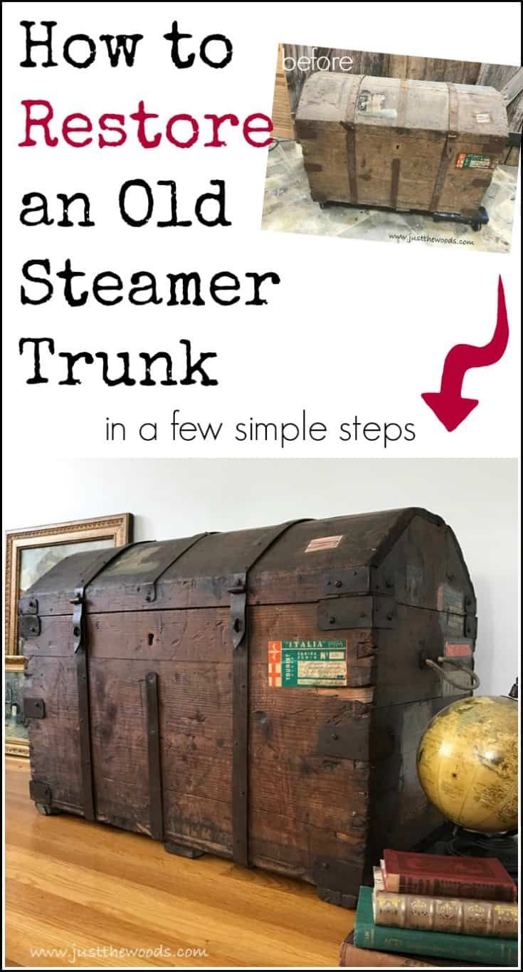 How to Restore an Old Steamer Trunk in a Few Simple Steps images