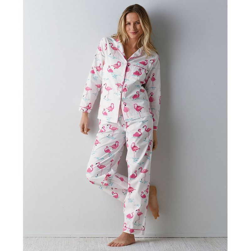 Womens Poplin Cotton Pajamas – Flamingo | The Company Store ...