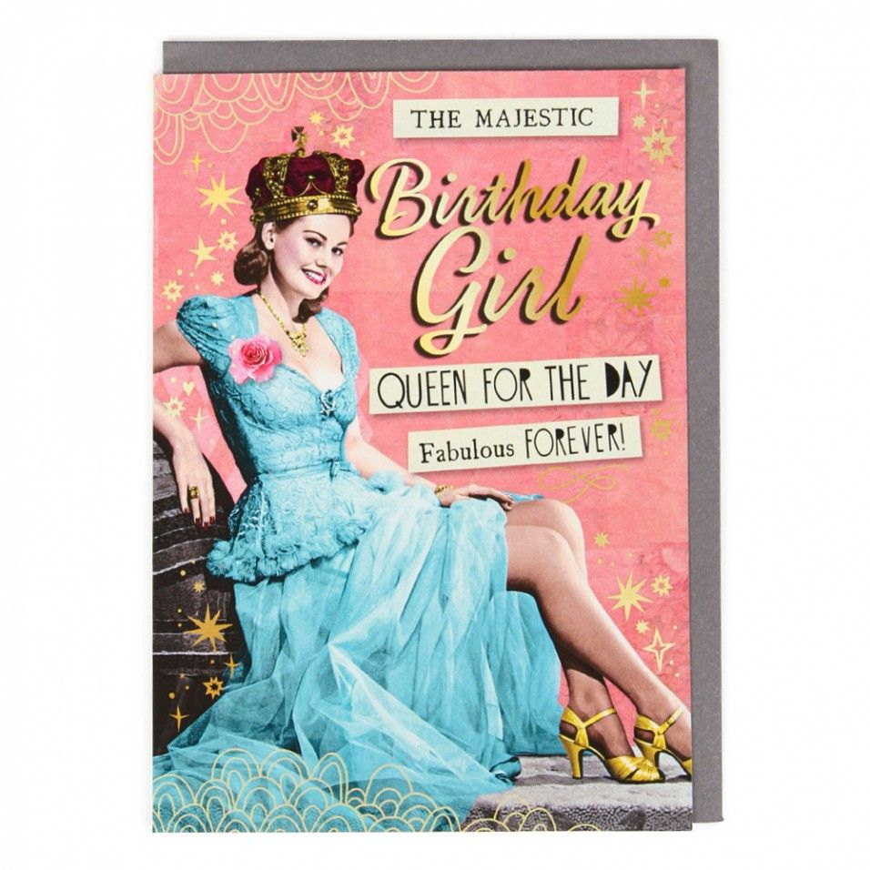 queen for the day birthday card  paperchase  happy