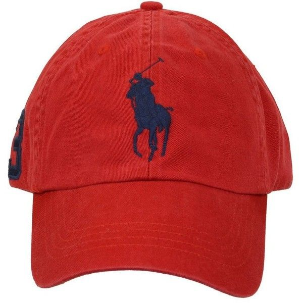 1a29c80a Amazon.com: Polo Ralph Lauren Big Pony Hat Cap Red with Navy pony ...