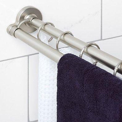 Titan Neverrust Aluminum 72 Inch Double Straight Shower Rod In