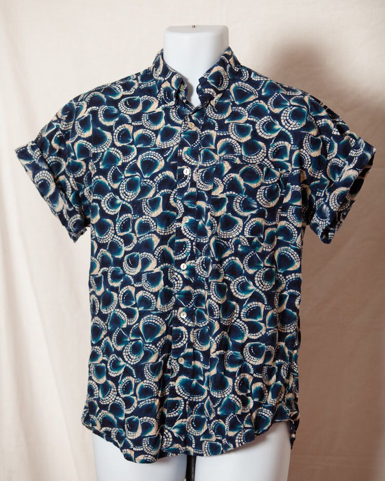 Summer Men/'s Short-sleeved Botton Down Casual Shirts Dot Printed Shirts SP