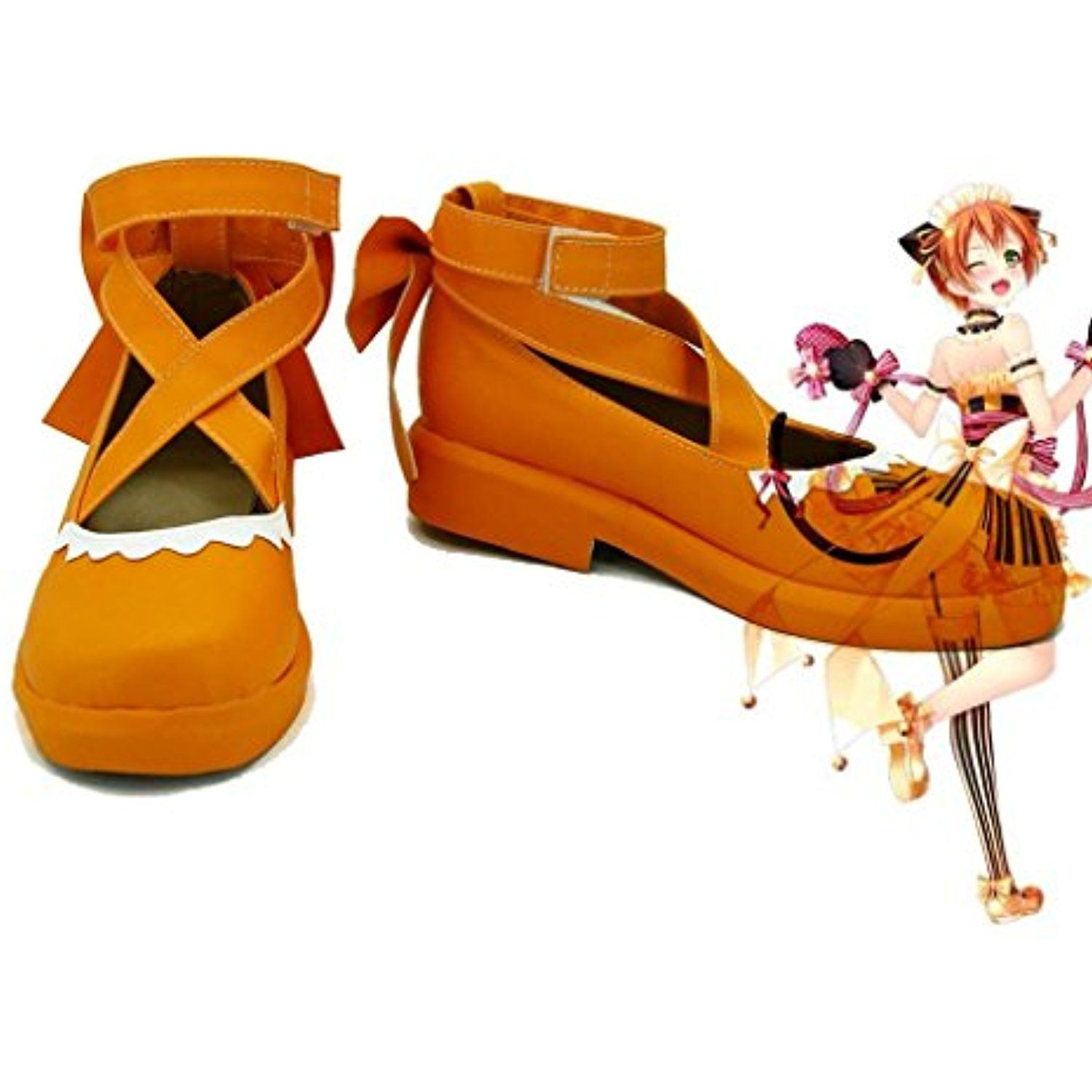 LoveLive! Love Live Happy Valentine's Day Maid Live! Hoshizora Rin Cosplay Shoes Boots Custom Made