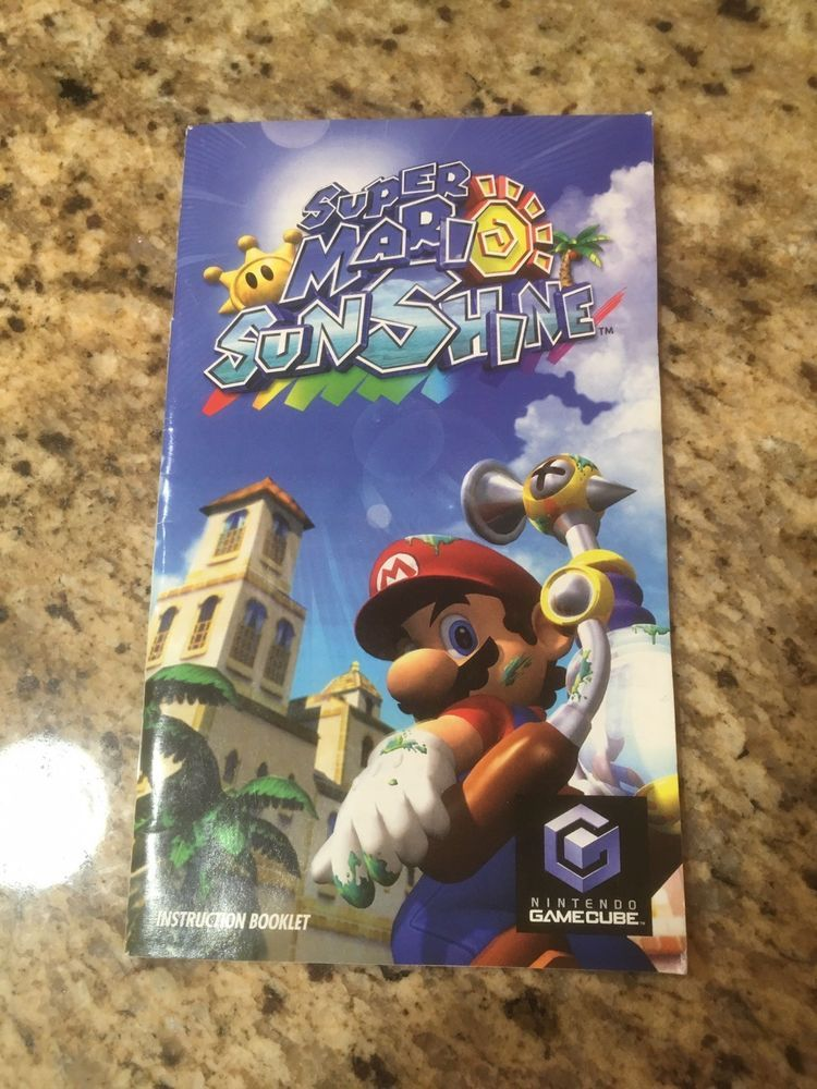 Super Mario Sunshine Manual Only No Game Instruction