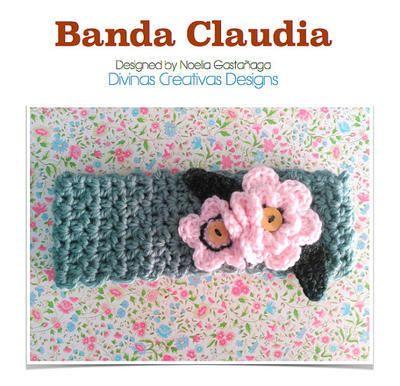 Patrón diadema o banda Claudia a ganchillo | Cintas Para La Cabeza ...