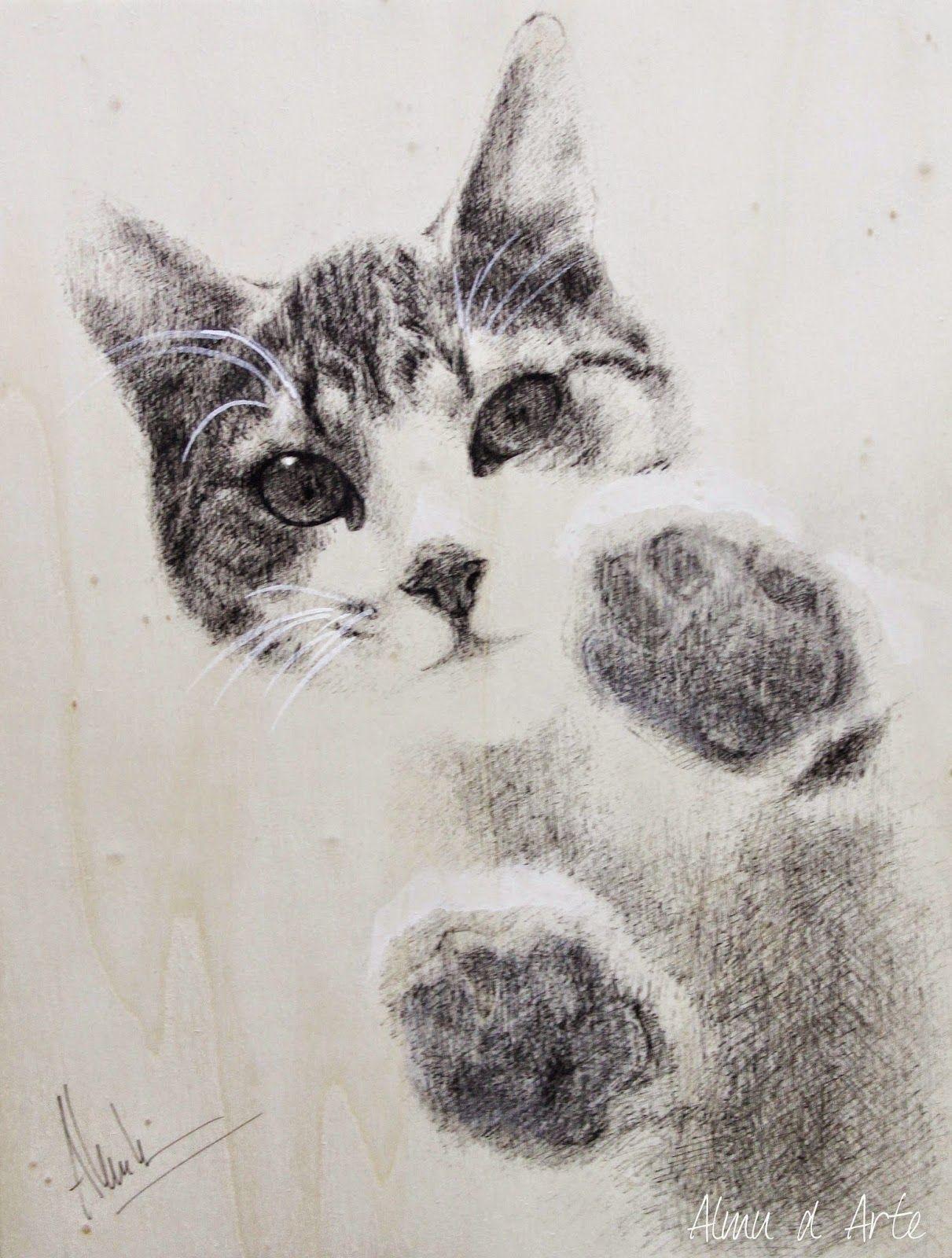 Almu Ruiz Dibujos De Gatos Gato De Acuarela Gatos