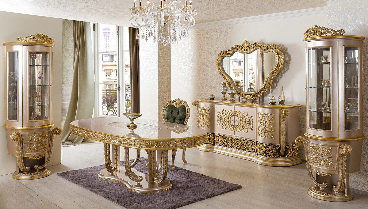 Champagne Luxury Classic Furniture Series Luxe Dining Room