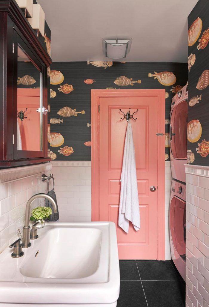 Pin By Helen Elfert On Banos Colorful Interior Design Powder Room Wallpaper Bathroom Interior Design