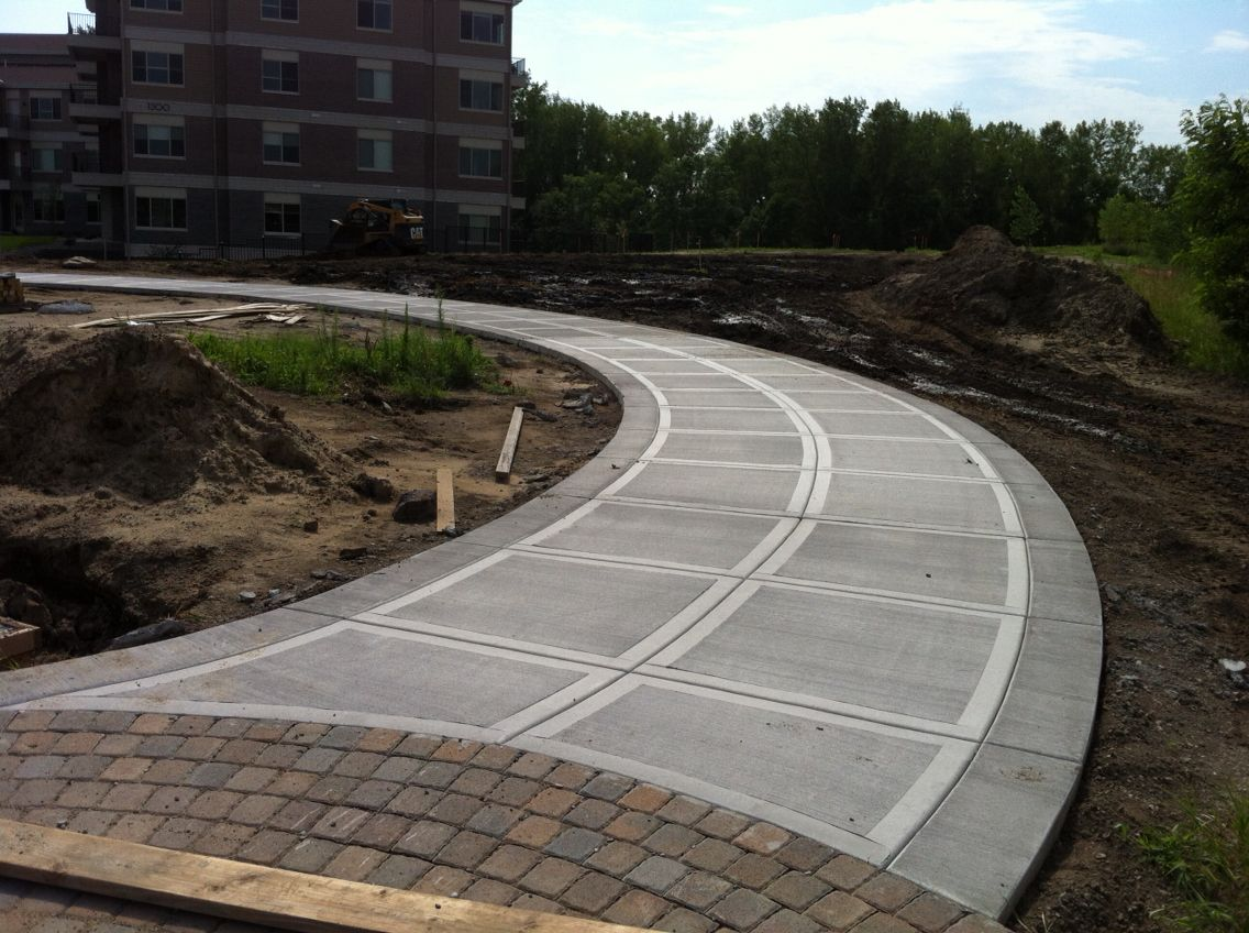 Concrete Driveway With California Style Finish