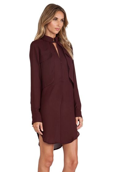 knee length Burgundy Dress