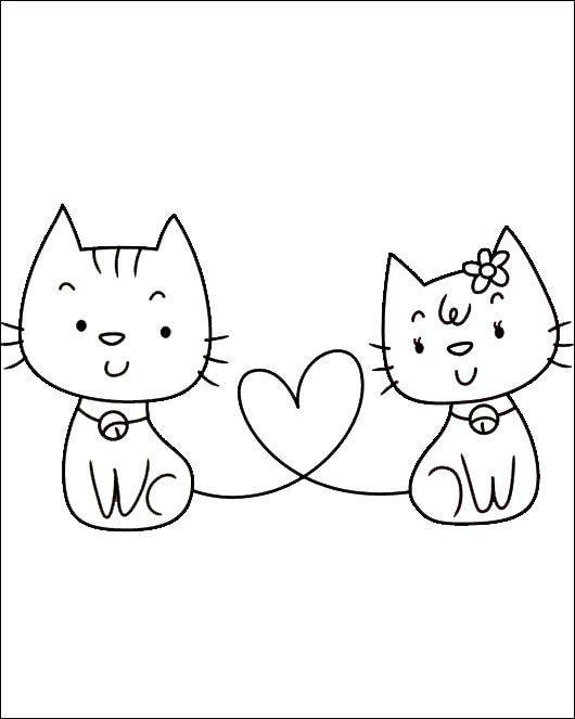 Malvorlagen von Katzen 10 | cats | Pinterest | Ausmalbilder katzen ...