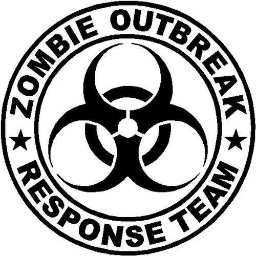 Zombie Outbreak Response Team Decal 12 Apocalypse Biohazard Vehicle Sticker Ebay Zombie Response Team Zombie Outbreak Response Team Zombie Response
