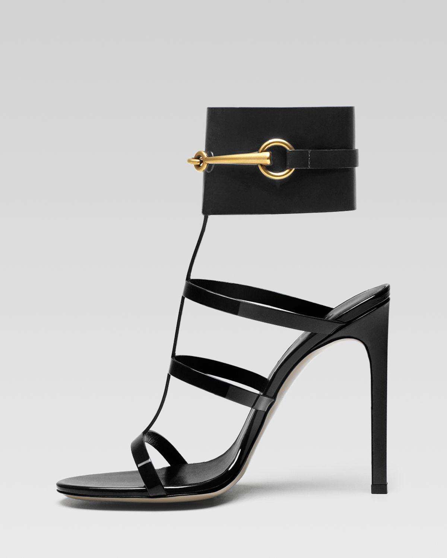 Black sandals with heels - Gucci Ursula Cage High Heel Sandal In Black