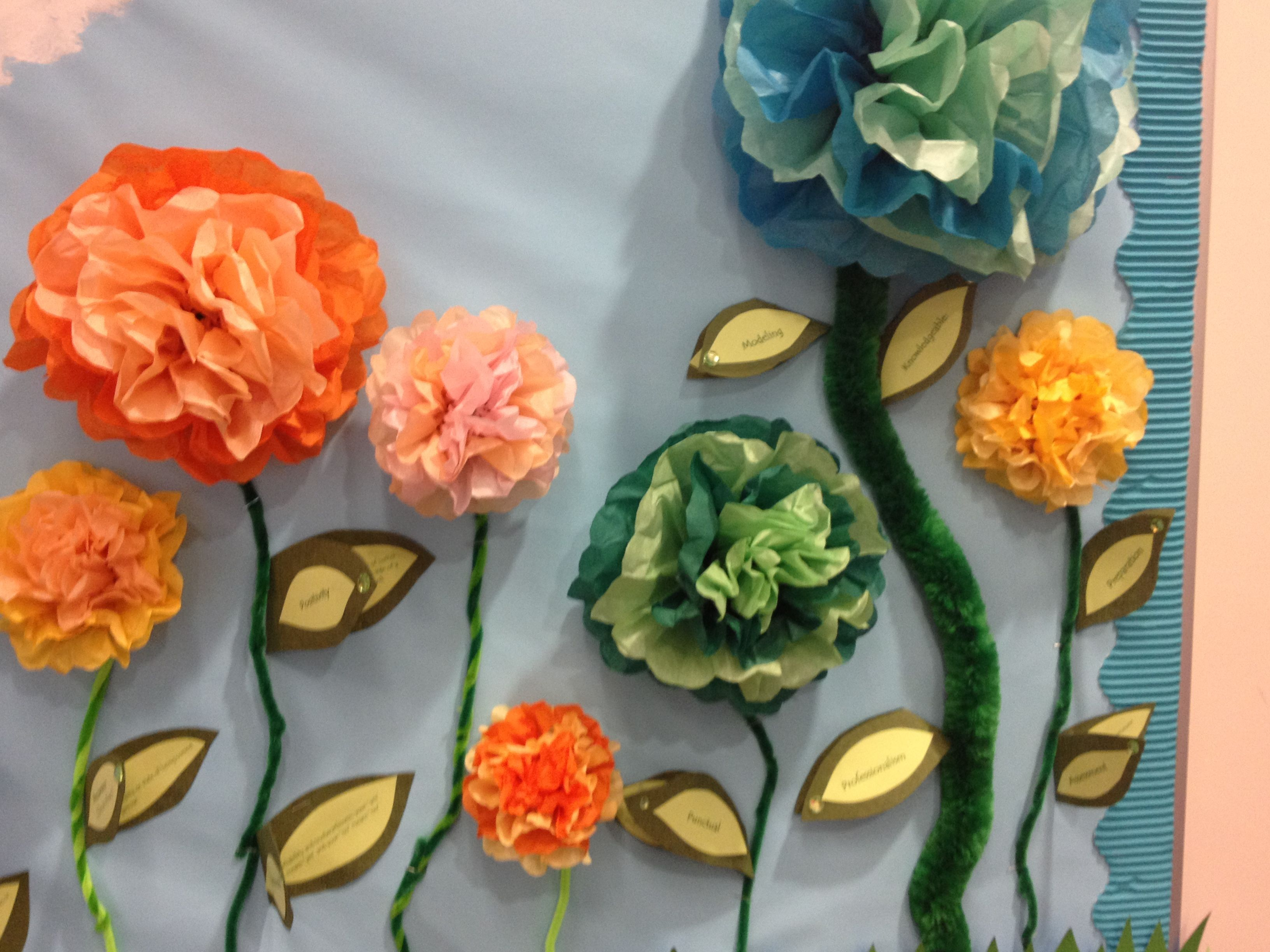 Crafty 3D flowers  for bulletin boards :)