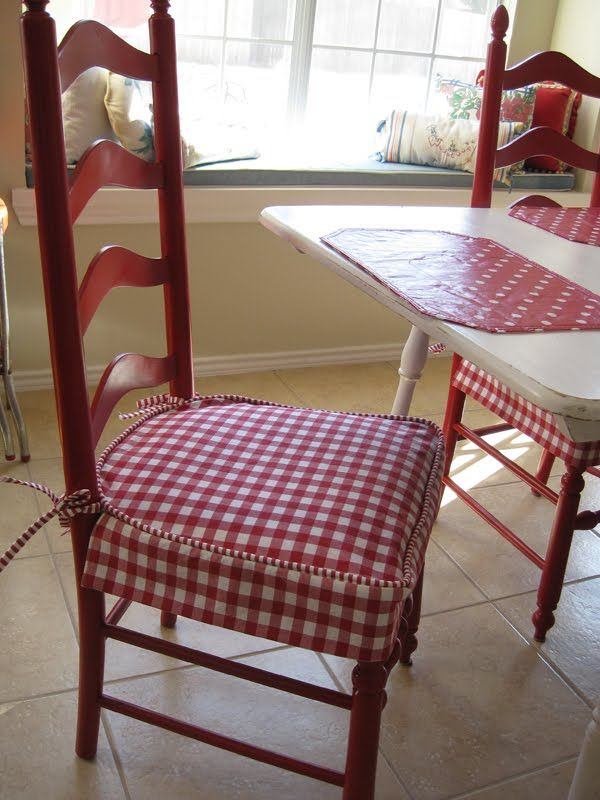 Kitchen Seat Covers Mobile Island With Seating Checkered Cover Diy Pinterest Chairs