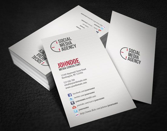 20 Best Business Cards Design Customizable Business Card Templates Social Media Business Cards Media Business Cards Cool Business Cards