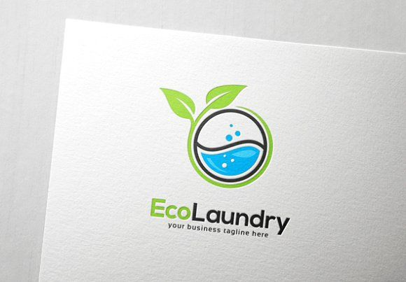 Eco Laundry Logo Laundry Logo Washing Machine Symbols Logo
