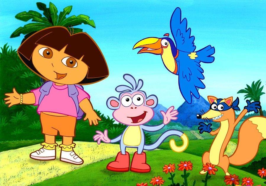 Ik begrijp niet dat Dora niet gewoon om de rots heenloopt. Moet ze er weer overheen. Snapt ze dat nou niet?
