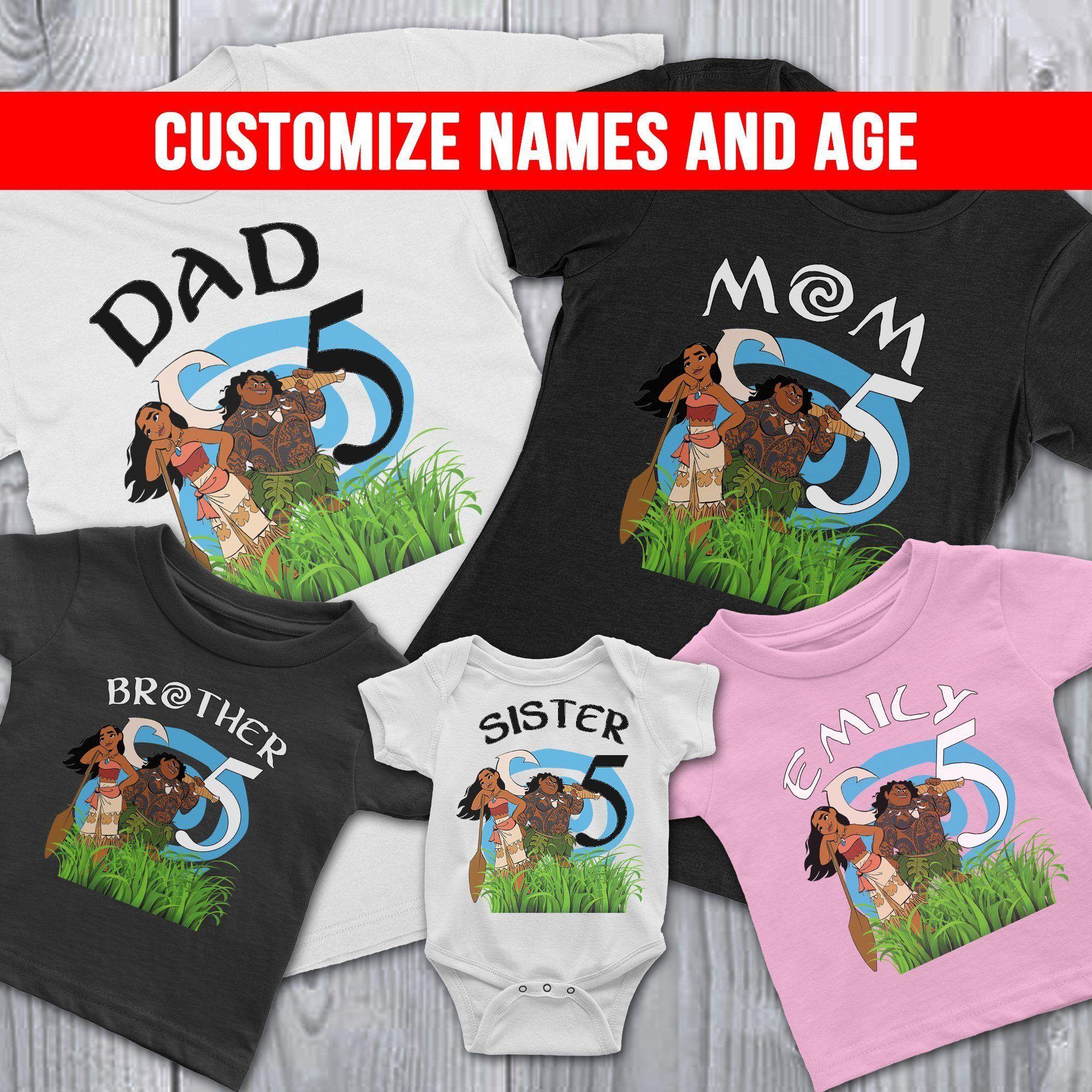 Park Art My WordPress Blog_Baby Moana Family Birthday Shirts