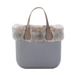 442ee2582ba0 O bag mini grigio chiaro con bordo in eco lapin brinato | My style ...