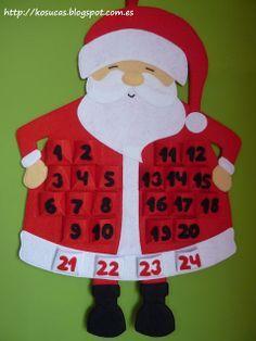 Resultado de imagen para reno calendario fieltro